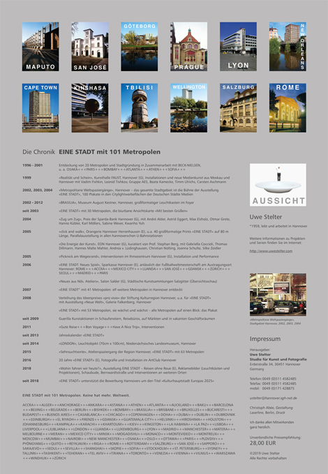 EINE STADT 2020 – Jahreskalender